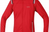 Image of Gore Running Wear soft shell jacket in red