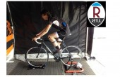 A cyclist in position before the Retul bike fit